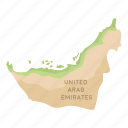 country, location, map, territory, united arab emirates icon