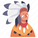indian, native, red, traditional, tribal, tribe icon