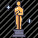 award, cinema, hollywood, movie, oscar, prize, reward icon