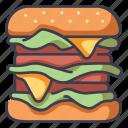 meal, cheese, hamburger, food, burger, meat icon