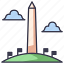 america, landmark, memorial, monument, usa, washington