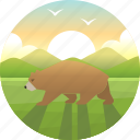 america, bear, california, grizzly, national, republic, usa icon