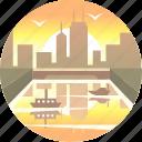 chicago, city, cityscape, downtown, illinois, urban, usa icon