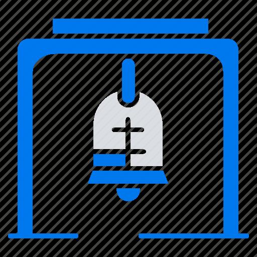 alert, bell, christmas, church icon