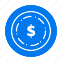 american, dollar, maony icon