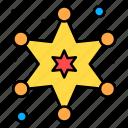 badge, medal, police, star, department