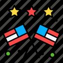 country, usa, nation, star, flag