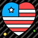 american, flag, star, stripes, heart