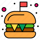 burger, cheeseburger, fast, food, junk