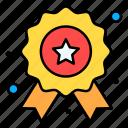 badge, champion, honor, star, winner