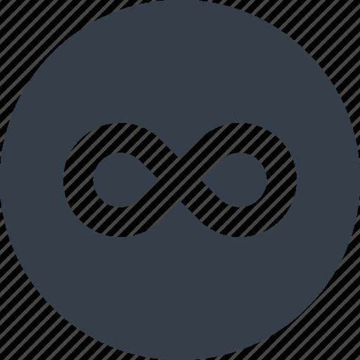 endless, infinite, infinity, loop, repeat icon