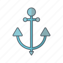 anchor, cruise, sea, ship icon