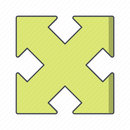 direction, enlarge, expand icon