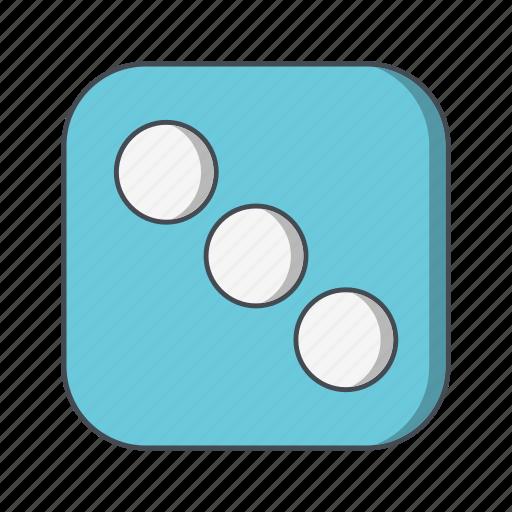 casino, dice, three icon