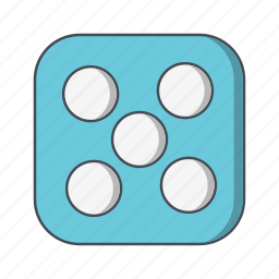 casino, dice, five icon