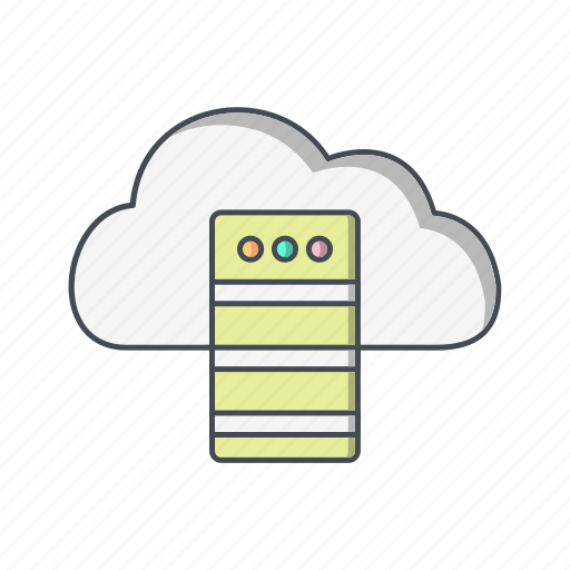 cloud, data base, server icon