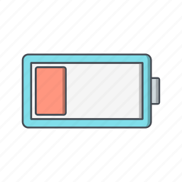 battery, charge, low icon