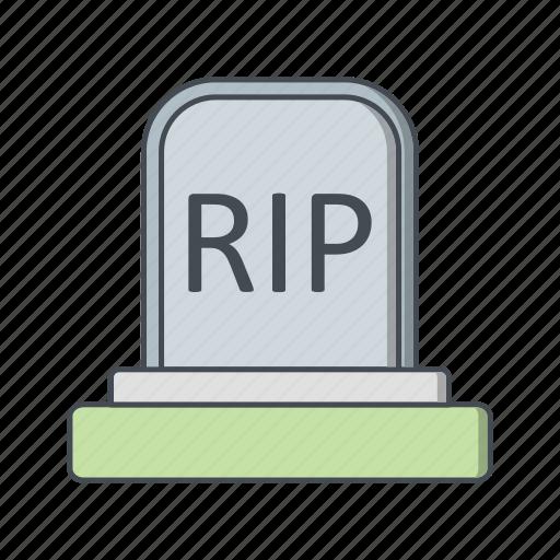 death, grave, halloween icon