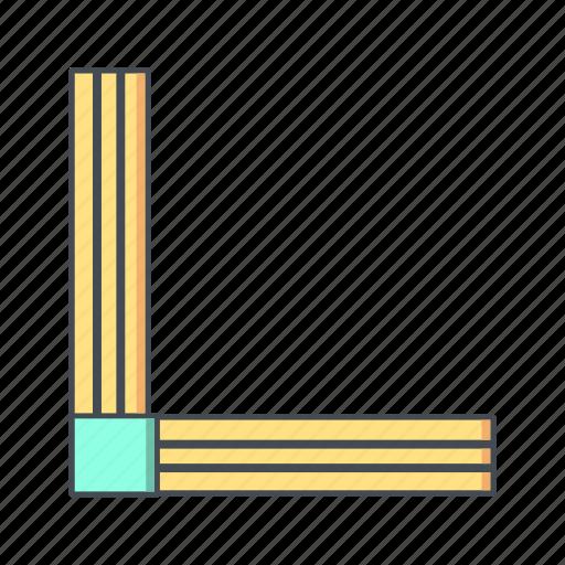 angle, ruler, tool icon