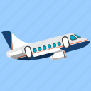 aircraft, airplane, flight, fly, plane, travel, trip icon