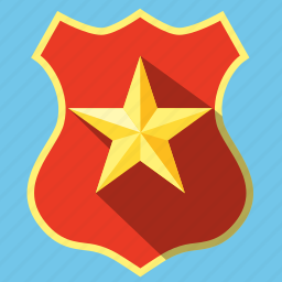 badge, guard, officer, protection, security, shield icon