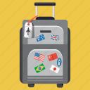 business, travel, travel bag, vacation, bag, lugage, trip icon