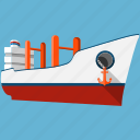 boat, cruise, navigation, sea, ship, transport, vessel icon