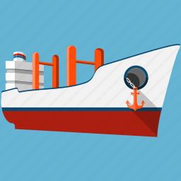 boat, cruise, navigation, sea, ship, transport, vessel icon