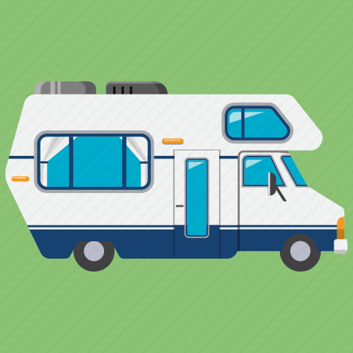 camping, car, caravan, transport, travel, trip, vacantion icon