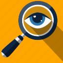 eyes, find, glass, magnifying, search, view, zoom icon
