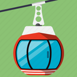cabin, cable, cable transport, gondola, skilift, transport, travel icon