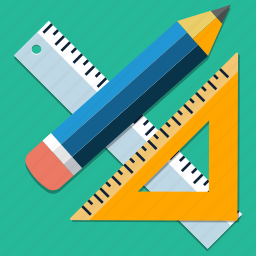 equipment, office, pencil, ruller, school, supplies, tool icon