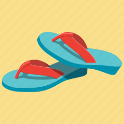 flipflops, footwear, holiday, sea, shoes, slippers, vacantion icon