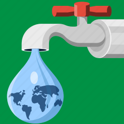 dripping, drop, earth, environment, tap, wather, world icon
