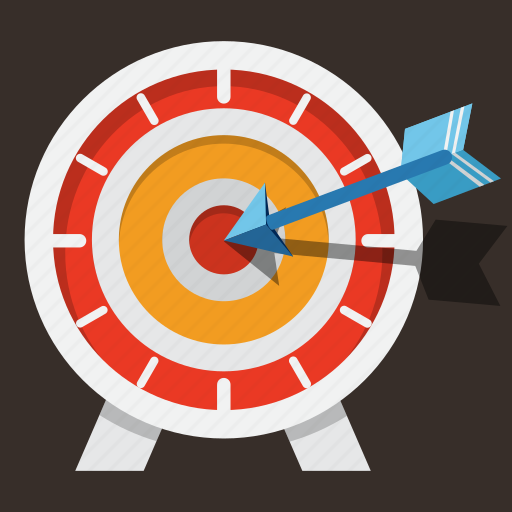 arrow, business, chart, darts, marketing, needle, target icon