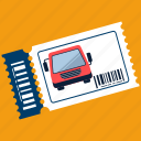 bus, station, ticket, transportation, travel, vehicle icon