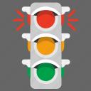 lights, semaphore, signal, traffic, road, transport icon