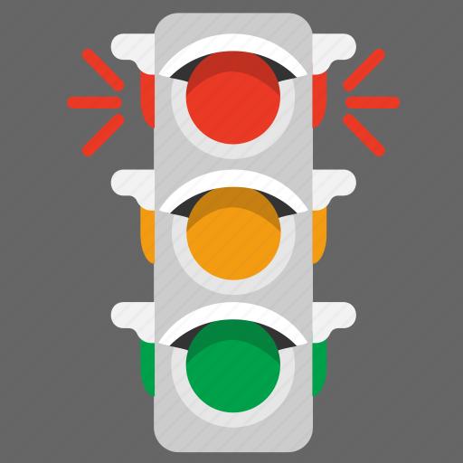 lights, road, semaphore, signal, traffic, transport icon