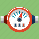 comunnal, counter, gauge, meter, pipe, pressure, water icon