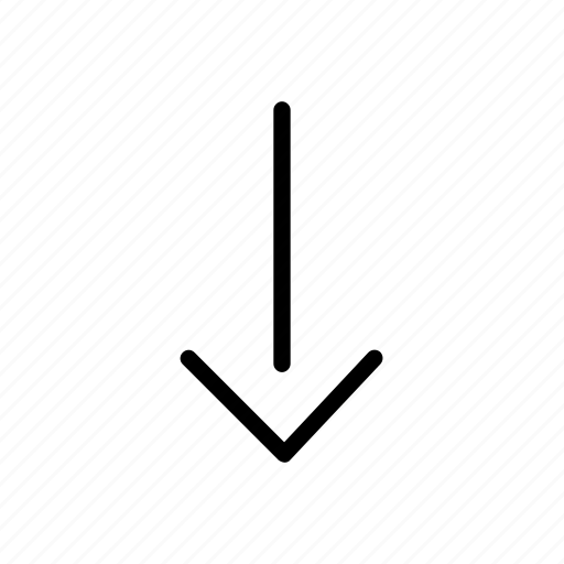 arrow, bottom, controls, down, interface, roll, website icon