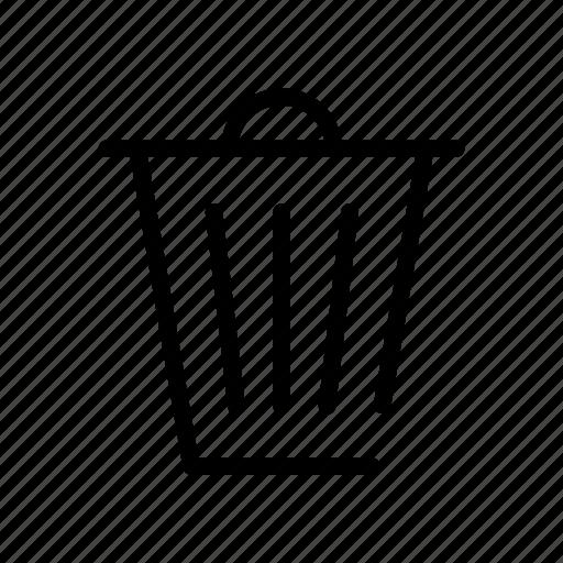 bin, controls, delete, interface, throw, trash, website icon