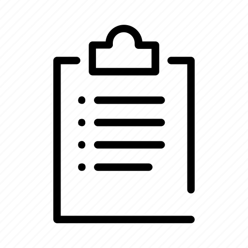 clipboard, controls, document, interface, list, text, website icon