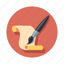 brush, document, paint, paper icon