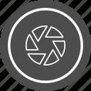 camera, lens, photography, shutter icon