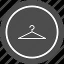 cloths, fashion, hang, hanger icon