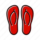 fashion, footwear, slipper, slippers icon