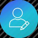 account, edit, profile, user icon