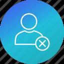 account, profile, remove, user icon