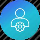 account, profile, settings, user icon