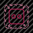 casino, dice, game, two icon
